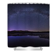 Milky Way Over Lonesome Lake Shower Curtain