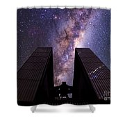 Milky Way Over New Technology Telescope Shower Curtain
