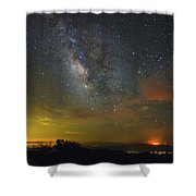 Milky Way Over Tenderfoot Fire Shower Curtain