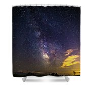 Milky Way Over The Boardwalk Shower Curtain
