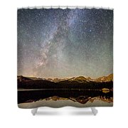 Milky Way Over The Colorado Indian Peaks Shower Curtain