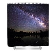 Milky Way Over The Lake Shower Curtain