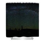 Milky Way Panorama Shower Curtain