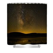 Milky Way Refection Shower Curtain