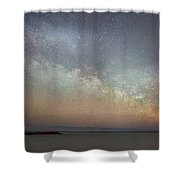 Milky Way Rising Shower Curtain