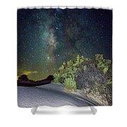 Milky Way White Sands Shower Curtain