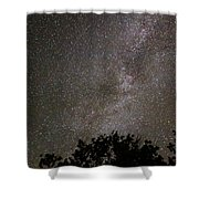 Milky Way With Perseid Meteor Shower Curtain