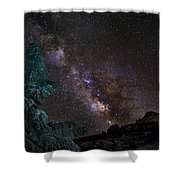 Milkyway At The Mountains Shower Curtain