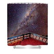 Milkyway Shower Curtain by Fabio Giannini