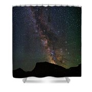 Milkyway Over Chief Mt Shower Curtain