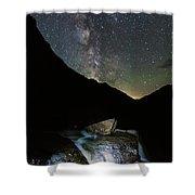Milkyway Over Haystack Shower Curtain
