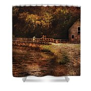 Mill - The Village Edge Shower Curtain