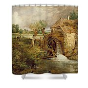 Mill At Gillingham - Dorset Shower Curtain by John Constable