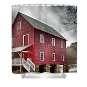 Mill At Whitewater Cree Shower Curtain