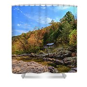 Mill By The Stream Shower Curtain