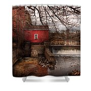 Mill - Clinton Nj - The Mill And Wheel Shower Curtain