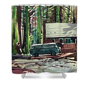 Mill Creek Camp Shower Curtain
