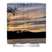 Mill Creek Lake Sun Set Shower Curtain by Todd Hostetter
