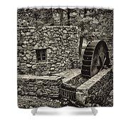 Mill Creek Water Wheel Shower Curtain