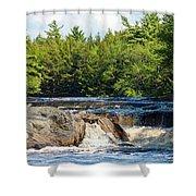 Mill Falls, Kejimkujik National Park, Nova Scotia Shower Curtain