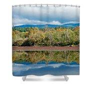 Mill Pond Illusion Shower Curtain