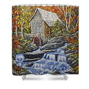 Mill Scene 03 Shower Curtain