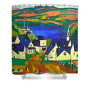 Mill Town, Quebec Shower Curtain