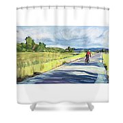 Mill Valley Bike Path Shower Curtain