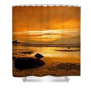 Mill Way Beach Sunset Shower Curtain
