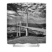 Millau Bridge France Shower Curtain