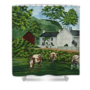 Milldale In Staffordshire Shower Curtain