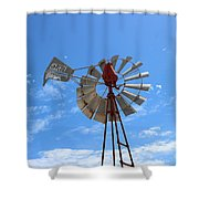 Milled Wind Shower Curtain by Stephen Mitchell
