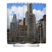 Millenium Park And Bench 2 Shower Curtain
