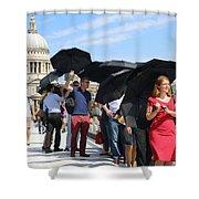 Millennium Bridge And St Pauls Shower Curtain