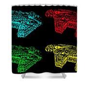 Millennium Falcon Poster Shower Curtain