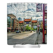 Millennium Gate In Vancouver Chinatown, Canada Shower Curtain