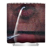 Millennium Park Fountain Chicago Shower Curtain