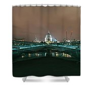 Millennium X St Paul's At Night Shower Curtain