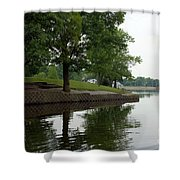 Miller Park Lake Shower Curtain