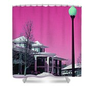 Miller Park Pavilion False Color Ir Number 1 Shower Curtain