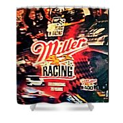 Miller Racing Sign 25th Year Shower Curtain