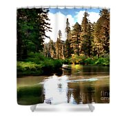 Millers Creek Painterly Shower Curtain