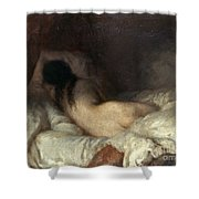 Millet: Reclining Nude Shower Curtain