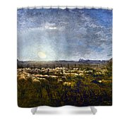Millet: Sheep By Moonlight Shower Curtain