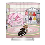 Millie Larue's French Room Shower Curtain