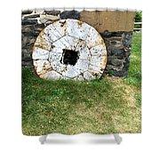 Milling Wheel Shower Curtain