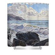 Millook Haven Shower Curtain