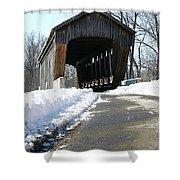 Millrace Park Old Covered Bridge - Columbus Indiana Shower Curtain