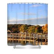 Mills Falls In October Shower Curtain