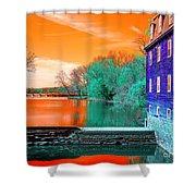 Millstone River Pop Art Shower Curtain